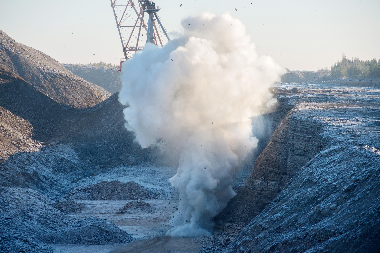 פיצוץ מבוקר של פצלי שמן באתר של איסטי אנרג'יה