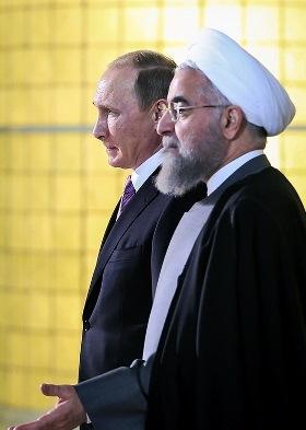 רוחאני ופוטין באיראן, נובמבר 2015