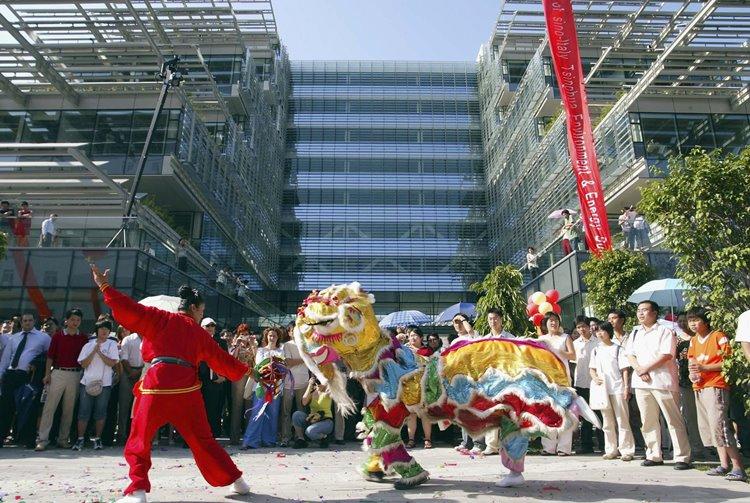 טקס דרקון בסין ליד הביתן הסיני-איטלקי לאתר